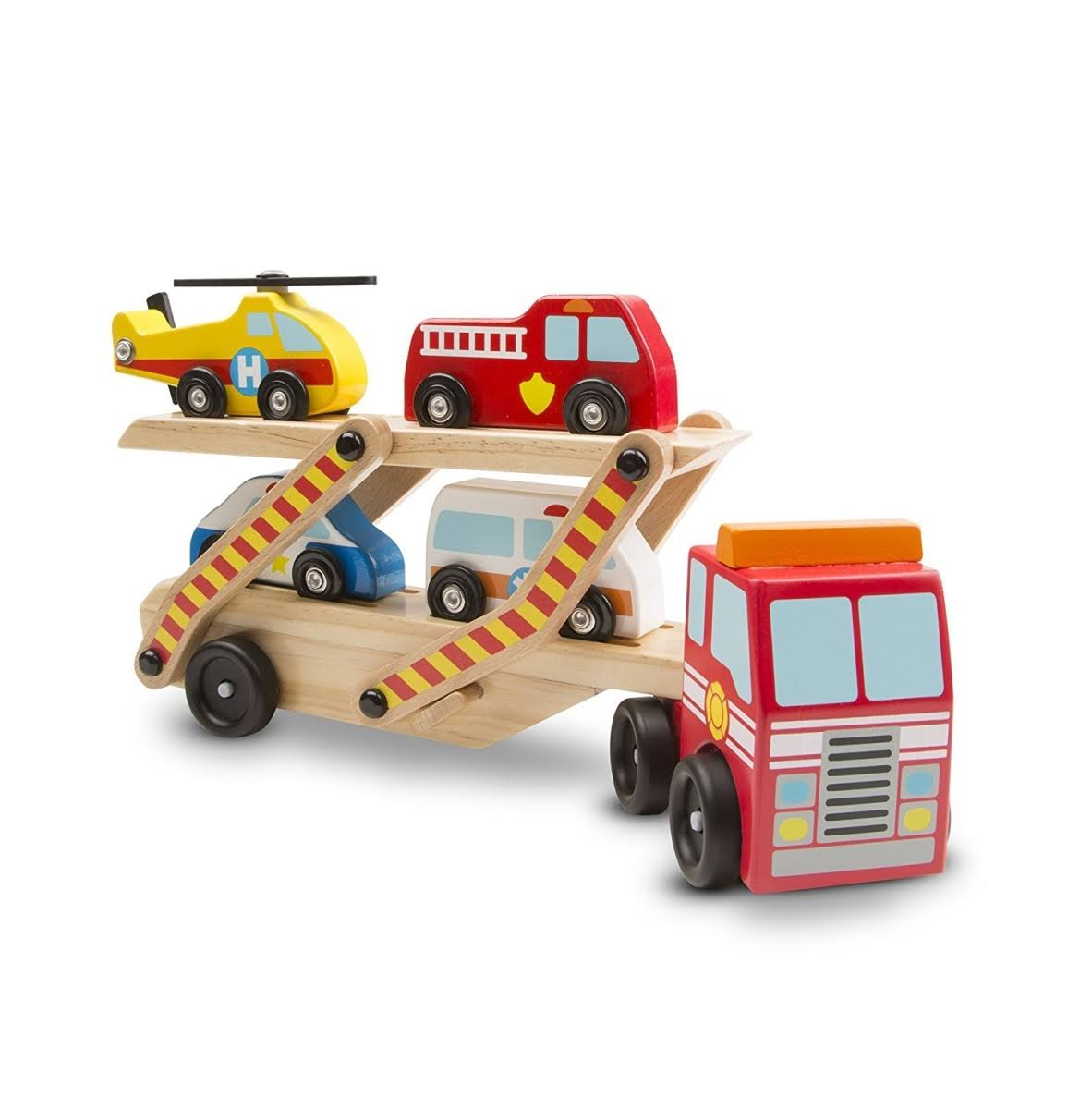 Melissa & Doug Toy, Classic, Emergency Vehicle Carrier
