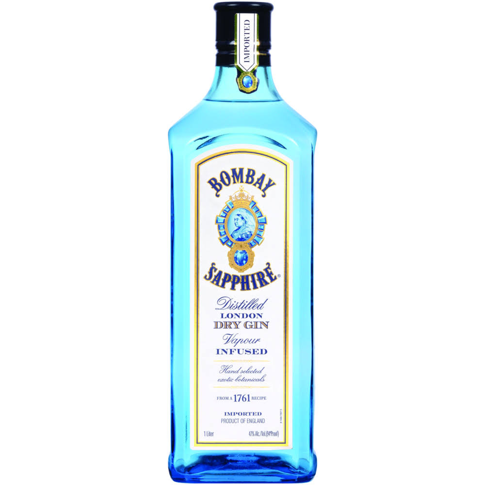 Bombay Sapphire Distilled London Dry Gin - 1l