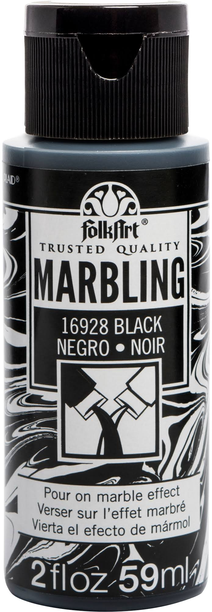 FolkArt Marbling Paint - Black, 2 oz.