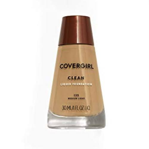 CoverGirl Clean Liquid Makeup Foundation - for Normal Skin, Medium Light 135