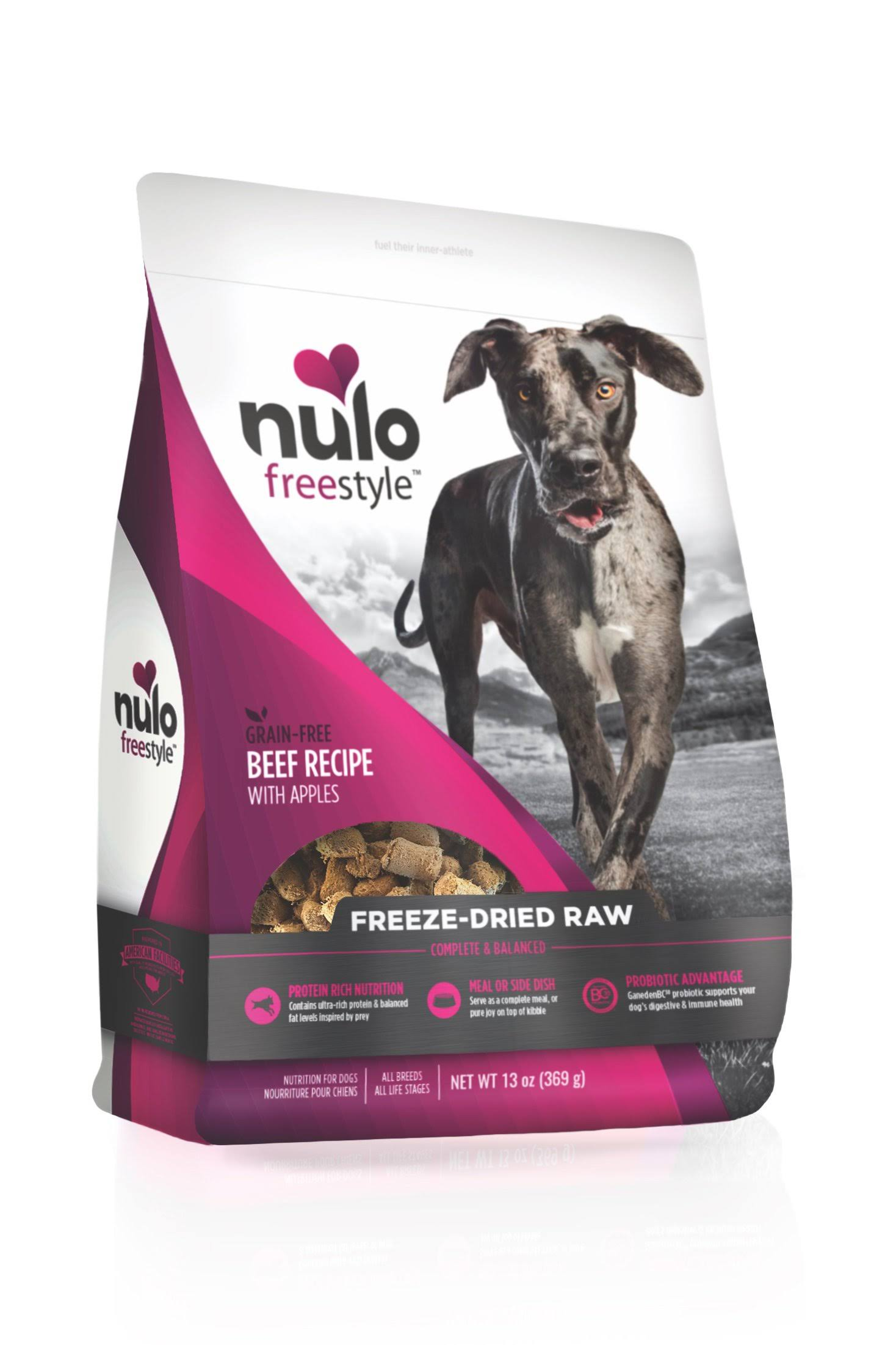 Nulo Freestyle Raw Freeze Dried Beef with Apples Dog Food 13oz