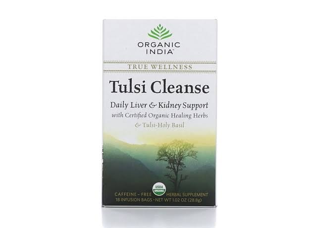 Organic India Tulsi Cleanse Herbal Tea - 18 Tea Bags