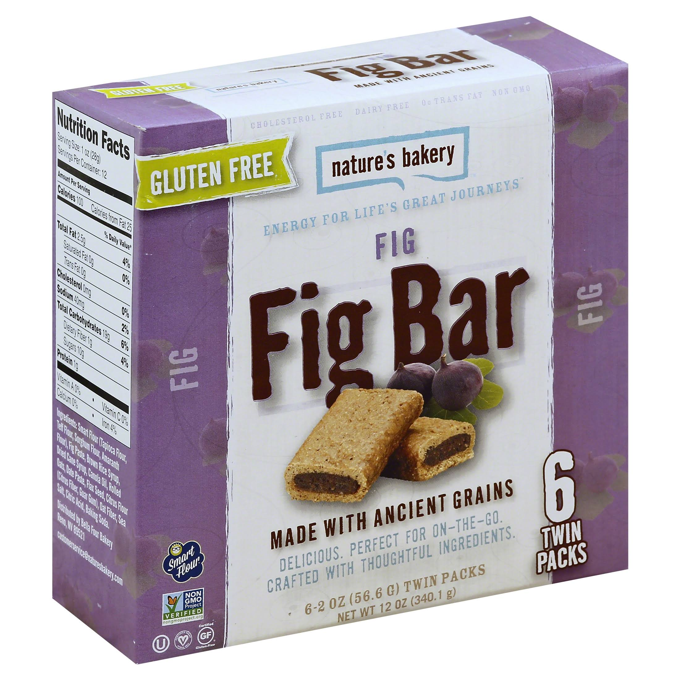 Natures Bakery Fig Bar - 6 count, 2 oz each
