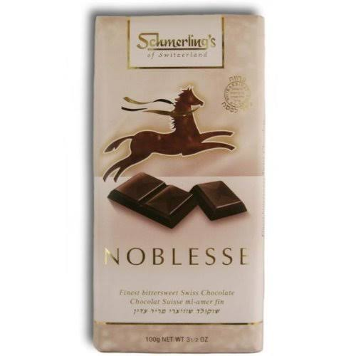 Schmerling's of Switzerland Noblesse 55 Percent Cocoa Finest Bittersweet Swiss Chocolate - 100g