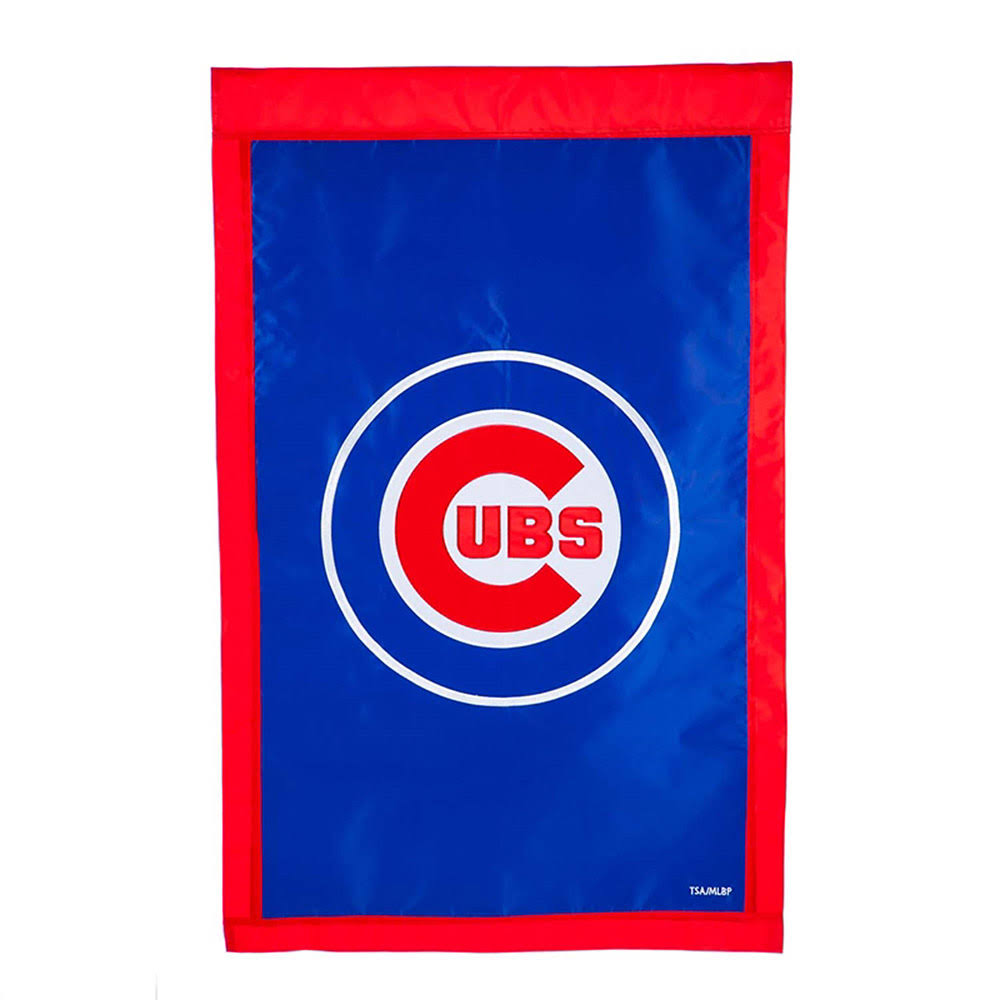 "Evergreen Enterprises 154204 MLB Chicago Cubs Applique Vertical Flag - 28"" x 44"""