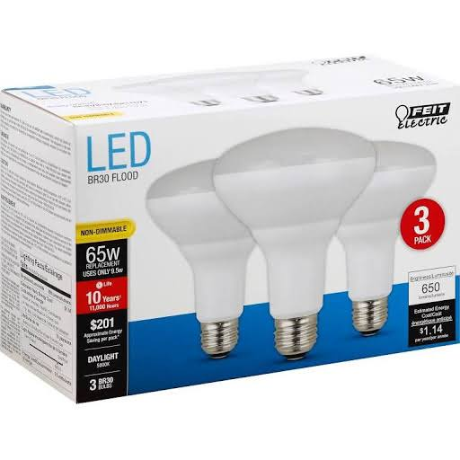Feit Electric Non-dimmable LED Bulb - 65W, 120V, 650 Lumens