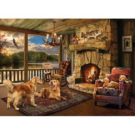 Lakeside Cabin - 1000pc Jigsaw Puzzle by Cobble Hill