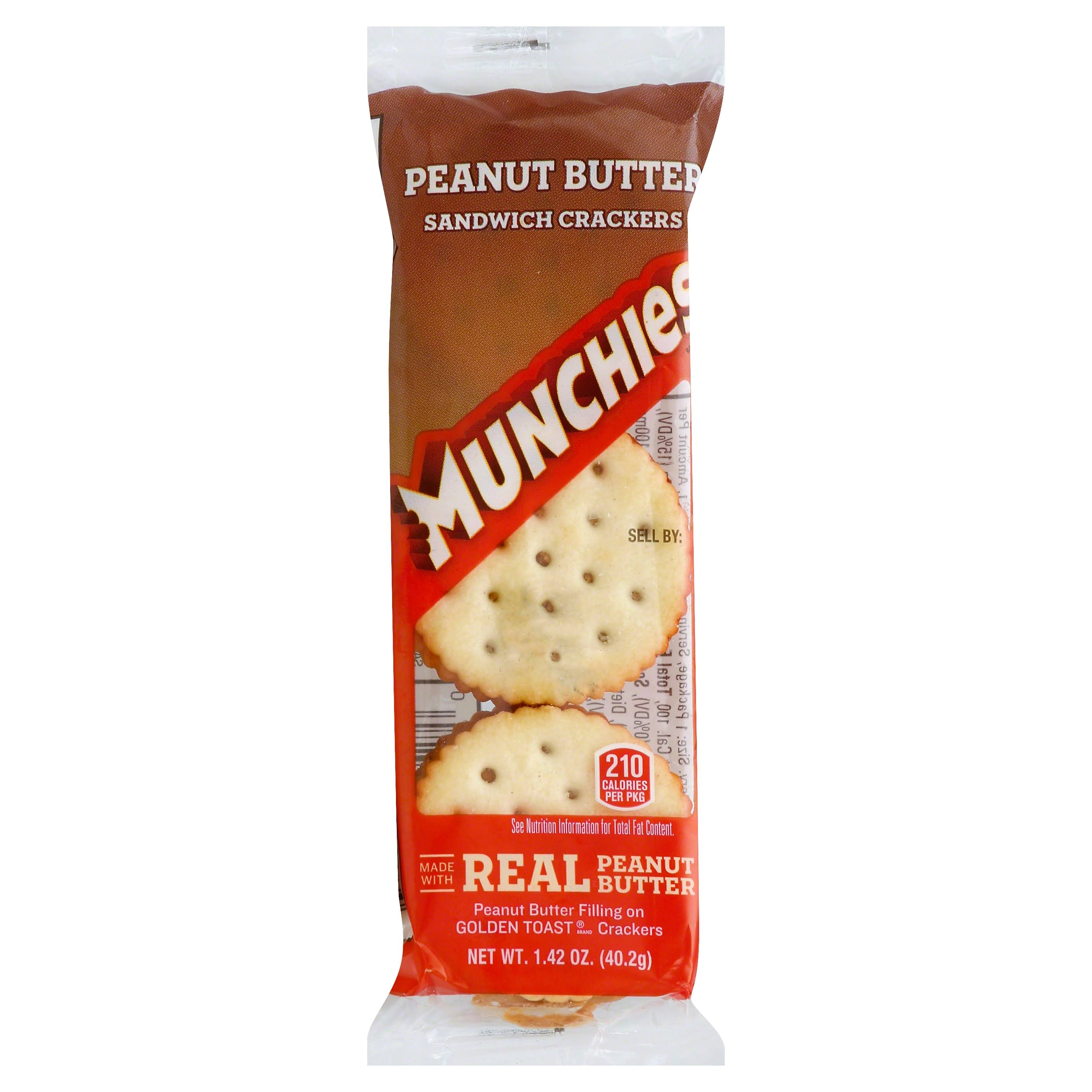 Frito-Lay Munchies Sandwich Crackers - Peanut Butter