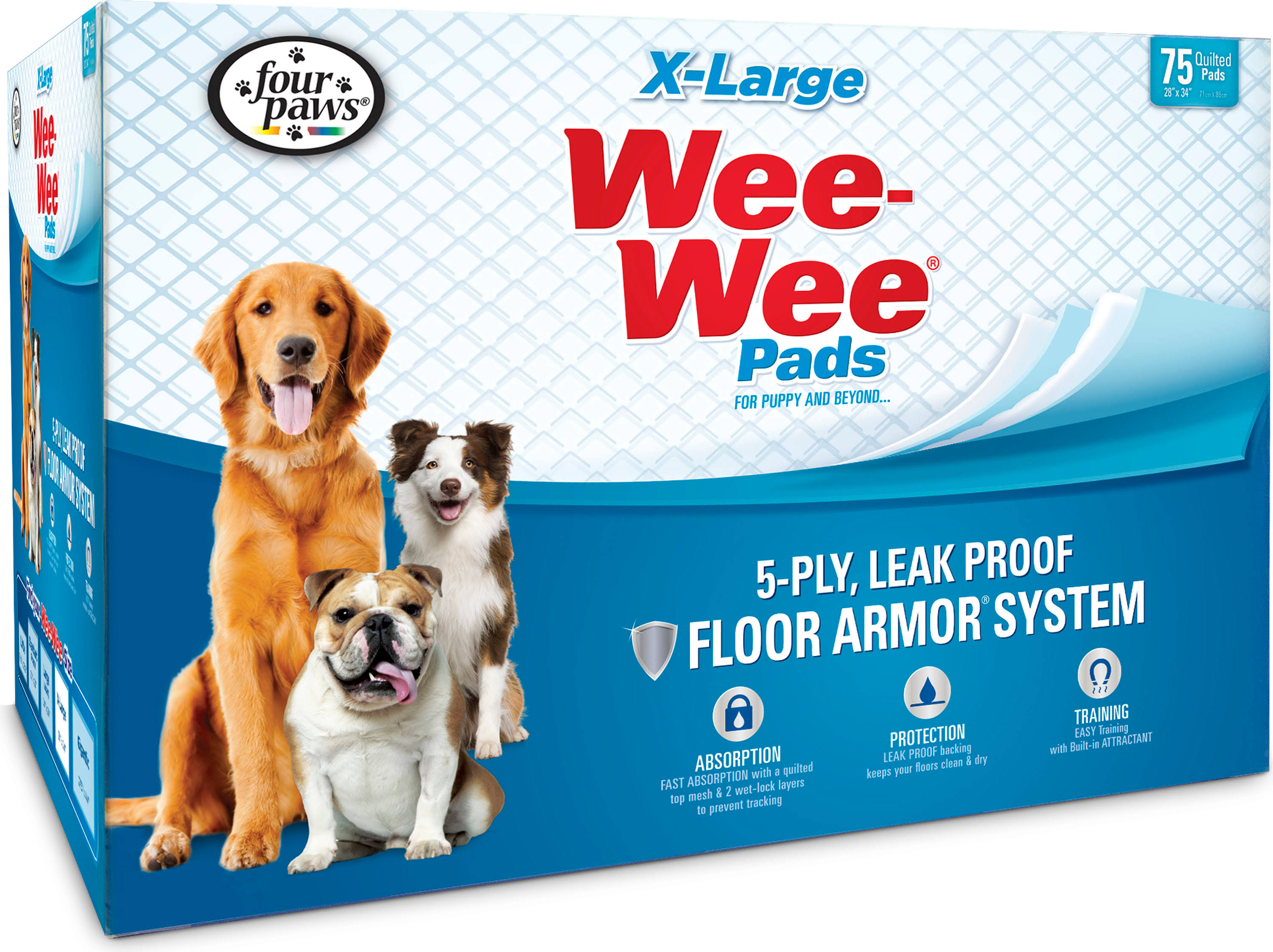 Four Paws Wee-wee Dog Training Pads - X-Large, 75ct