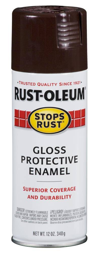 Rust-Oleum 7775-830 Enamel Spray Paint - Leather Brown, 12oz