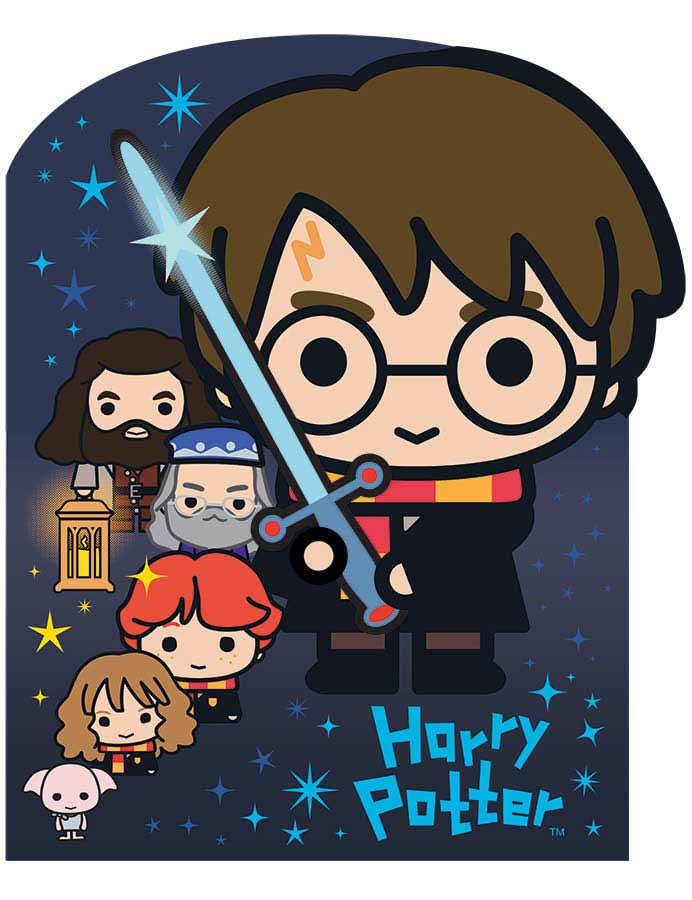 Playhouse Glow in The Dark Harry Potter Chibi 28-Piece Die Cut Shaped Mini Puzzle for Kids