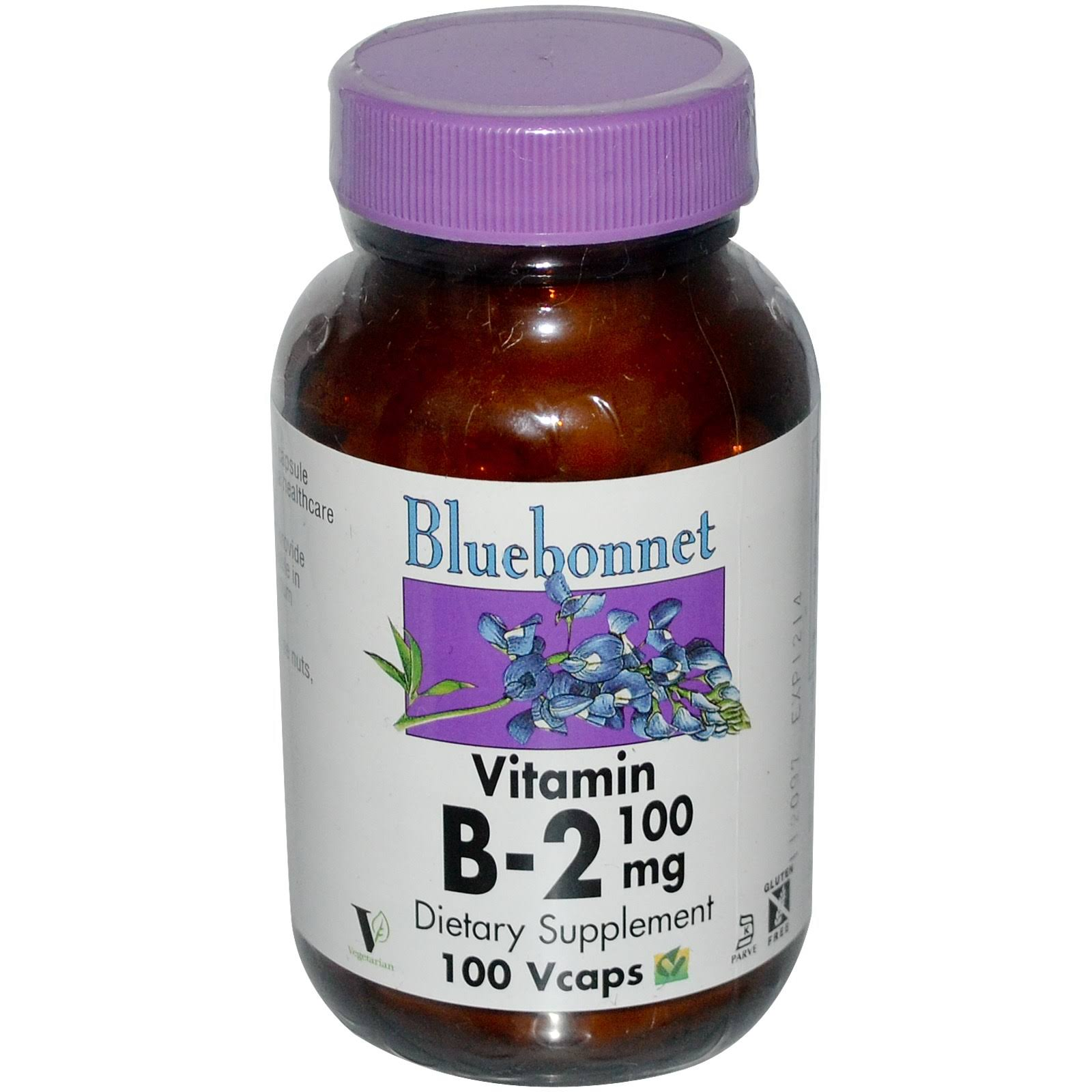 Bluebonnet - Vitamin B-2 100 mg 100 vcaps