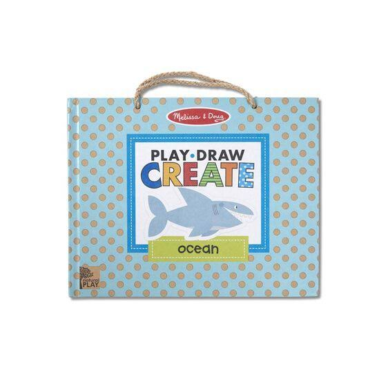 Melissa & Doug Play, Draw, Create Reusable Drawing & Magnet Kit - Ocean
