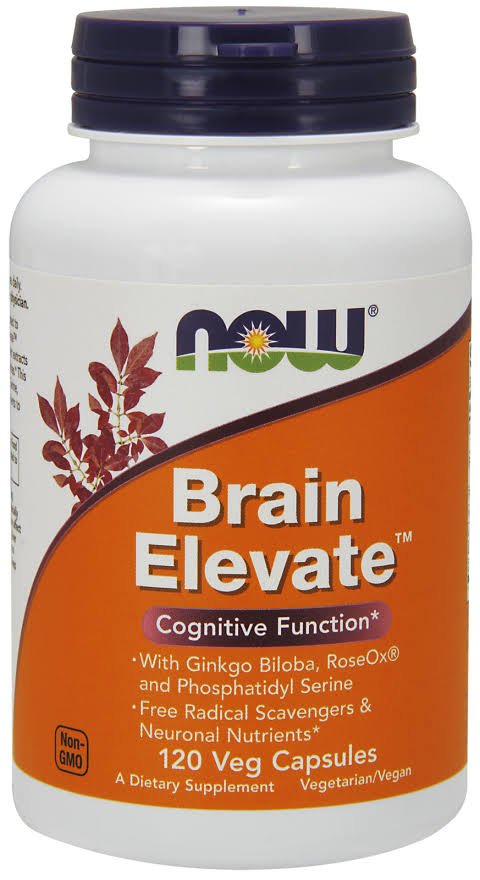 Now Foods Brain Elevate Dietary Supplement - 120 Vegetarian Capsules