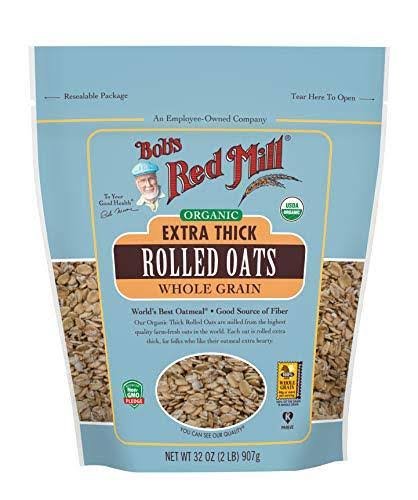 Bobs Red Mill Oats, Organic, Whole Grain, Extra Thick, Rolled - 32 oz