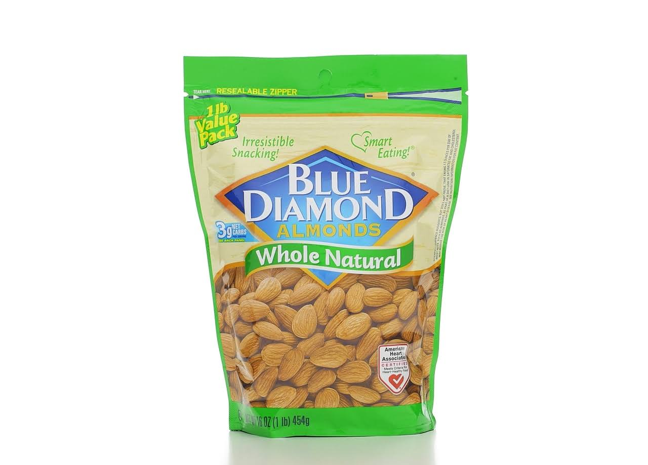 Blue Diamond Whole Natural Almonds - 470ml