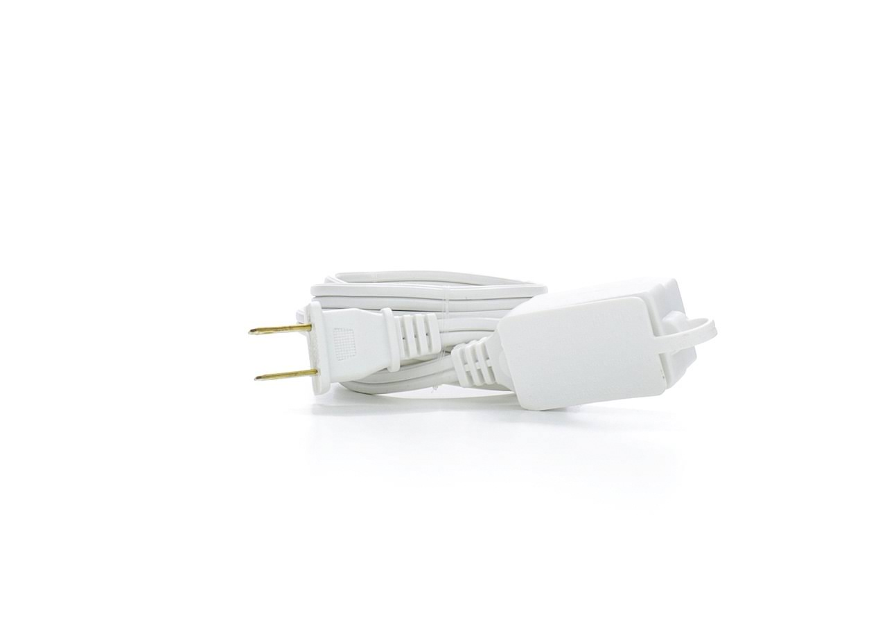 Prime Wire and Cable Cord - White, 6', 3 outlets