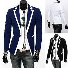new fashion men u0027s slim fit stylish casual suit coat jacket blazers