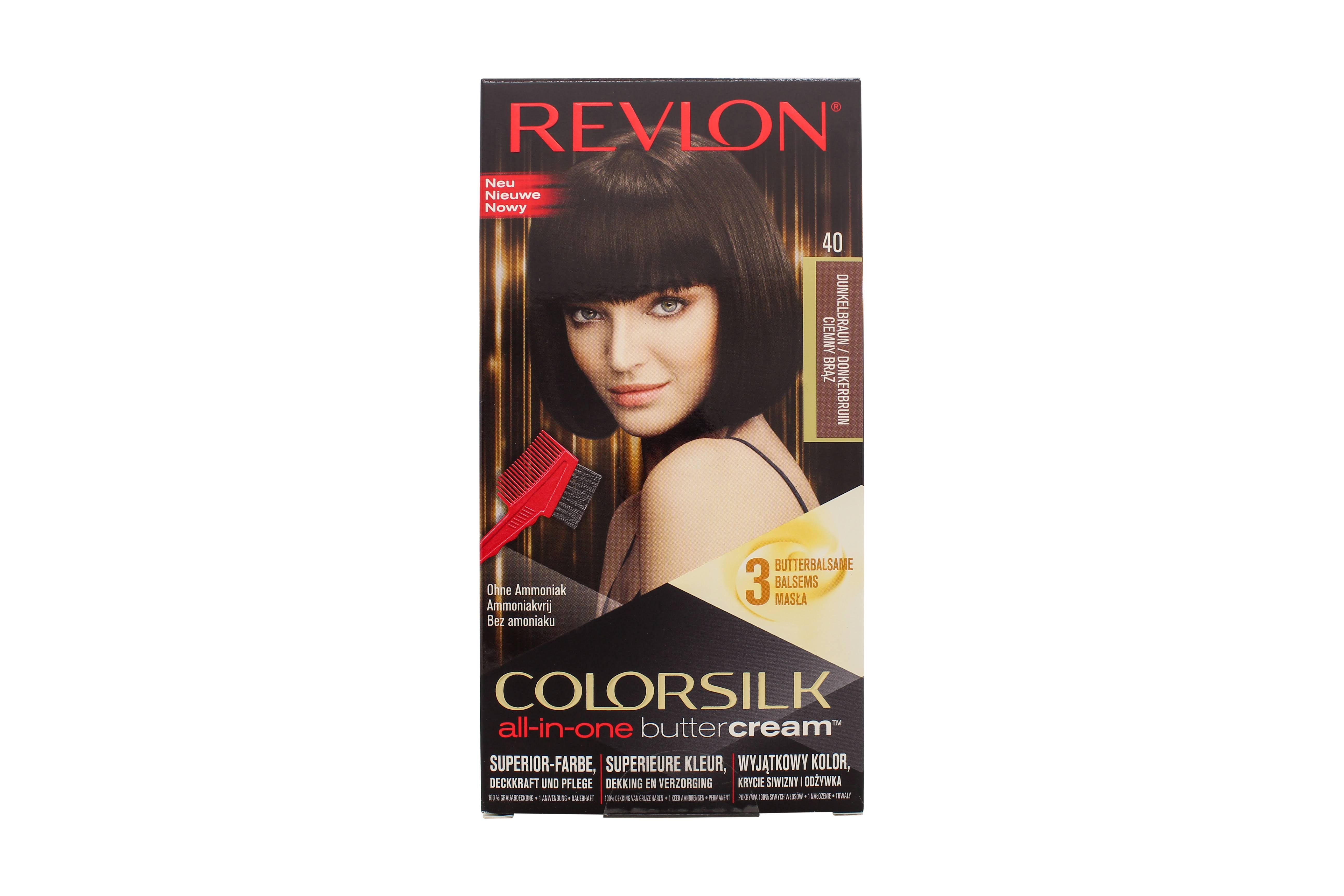 Revlon ColorSilk ButterCream Hair Color - 40/30N Dark Brown