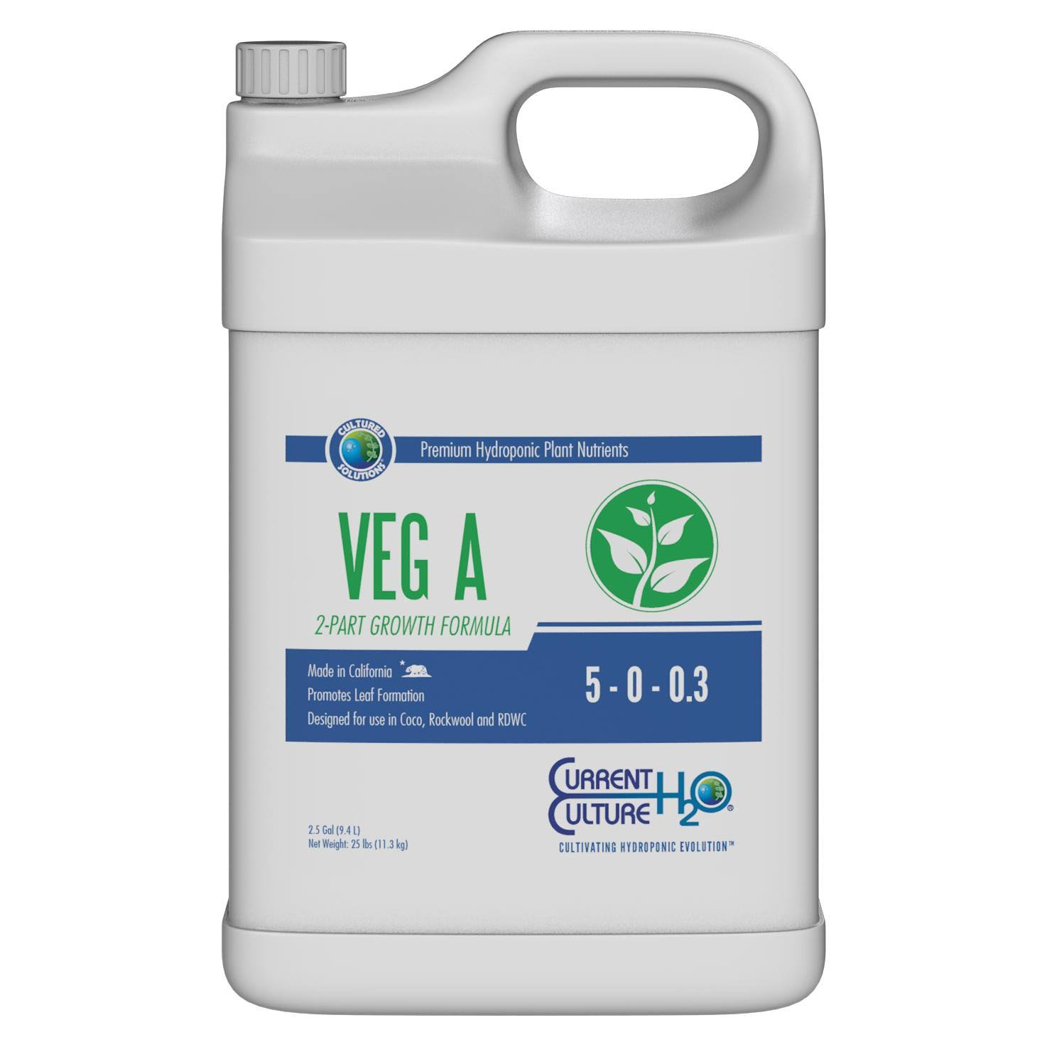 Cultured Solutions Veg A - 2.5 Gallon