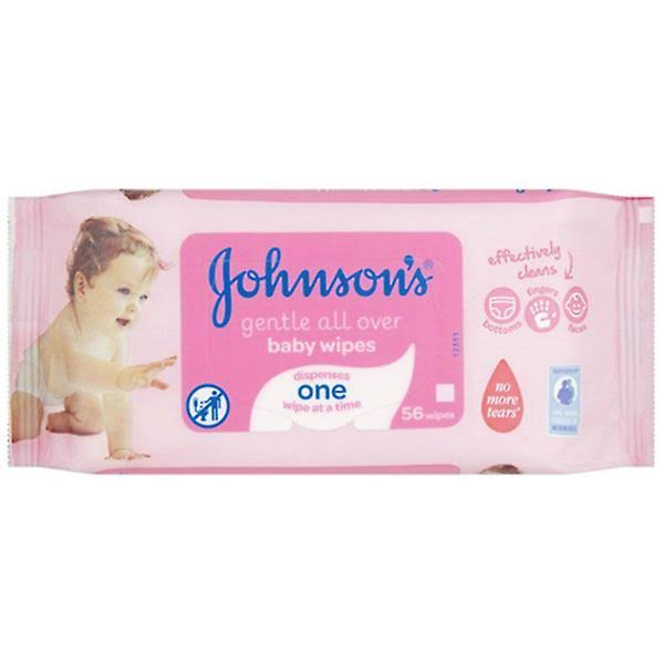 Johnson's Gentle All Over Wipes - 56 Wipes