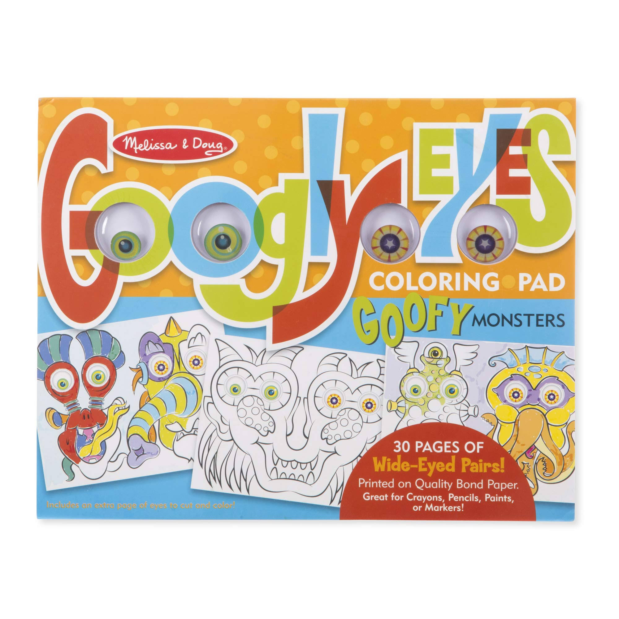 Melissa and Doug Googly Eyes Coloring Pad - 30 Pages