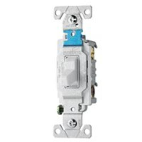 Cooper Wiring Devices CS315W Side Wire AC Quiet Light Switch - White, 120V
