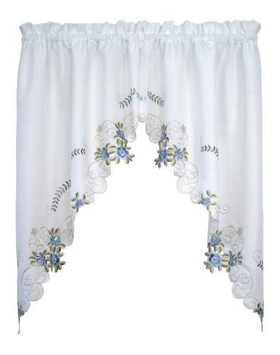 Today's Curtain Verona Reverse Embroidery Window Swag - 38""