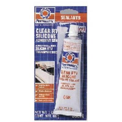 Permatex Silicone Adhesive Sealant - Clear, 85g