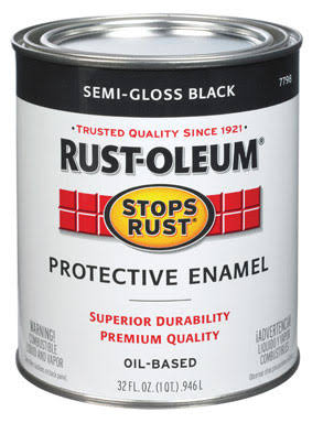 Rust-Oleum Stops Rust Protective Enamel - Semi Gloss Black, 946ml