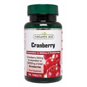 Natures Aid Cranberry Extract Food Supplement - 5000mg, 90ct