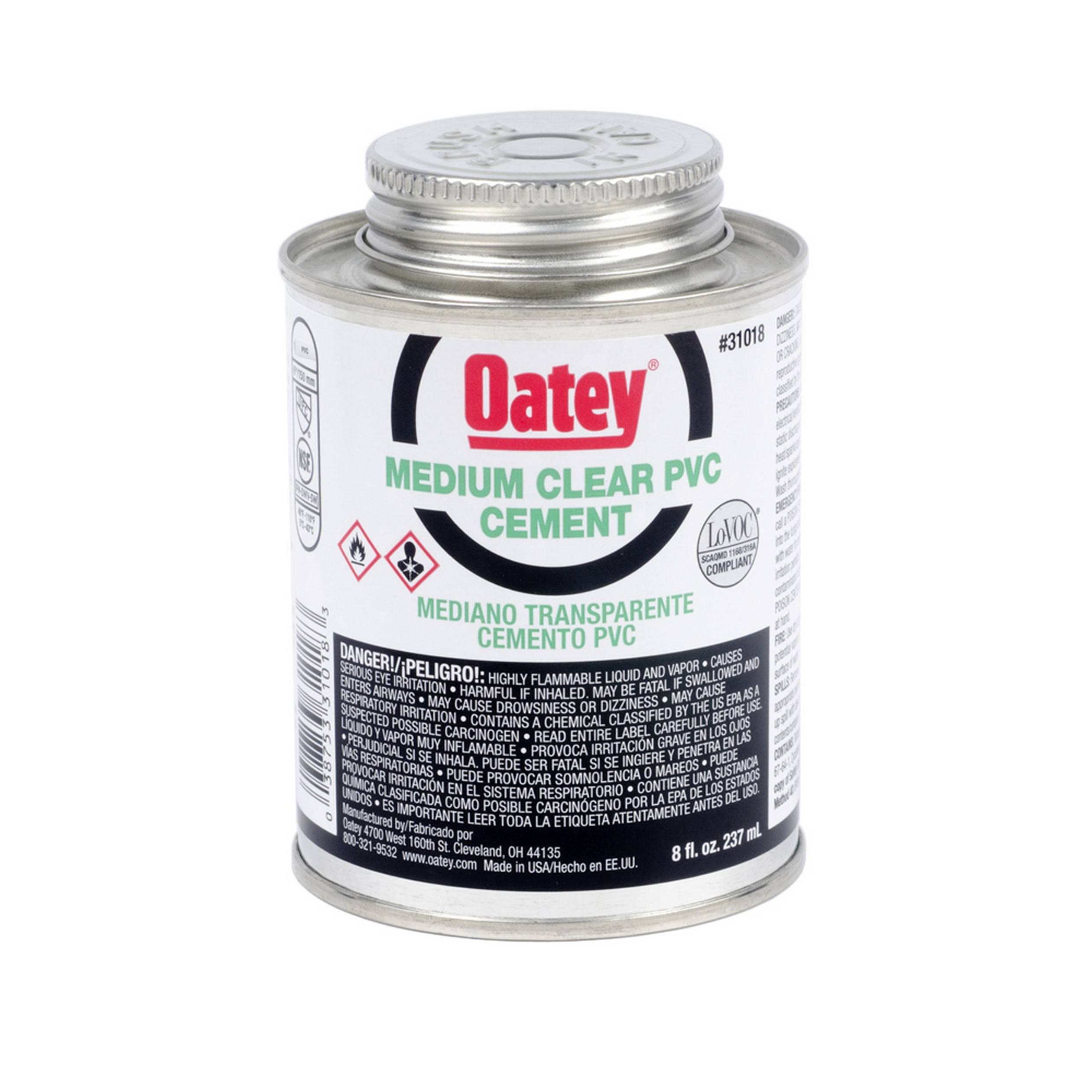 Oatey PVC Cement - Clear, 237ml