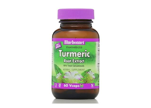 Bluebonnet Turmeric Root Extract Supplement - 60 Vcaps