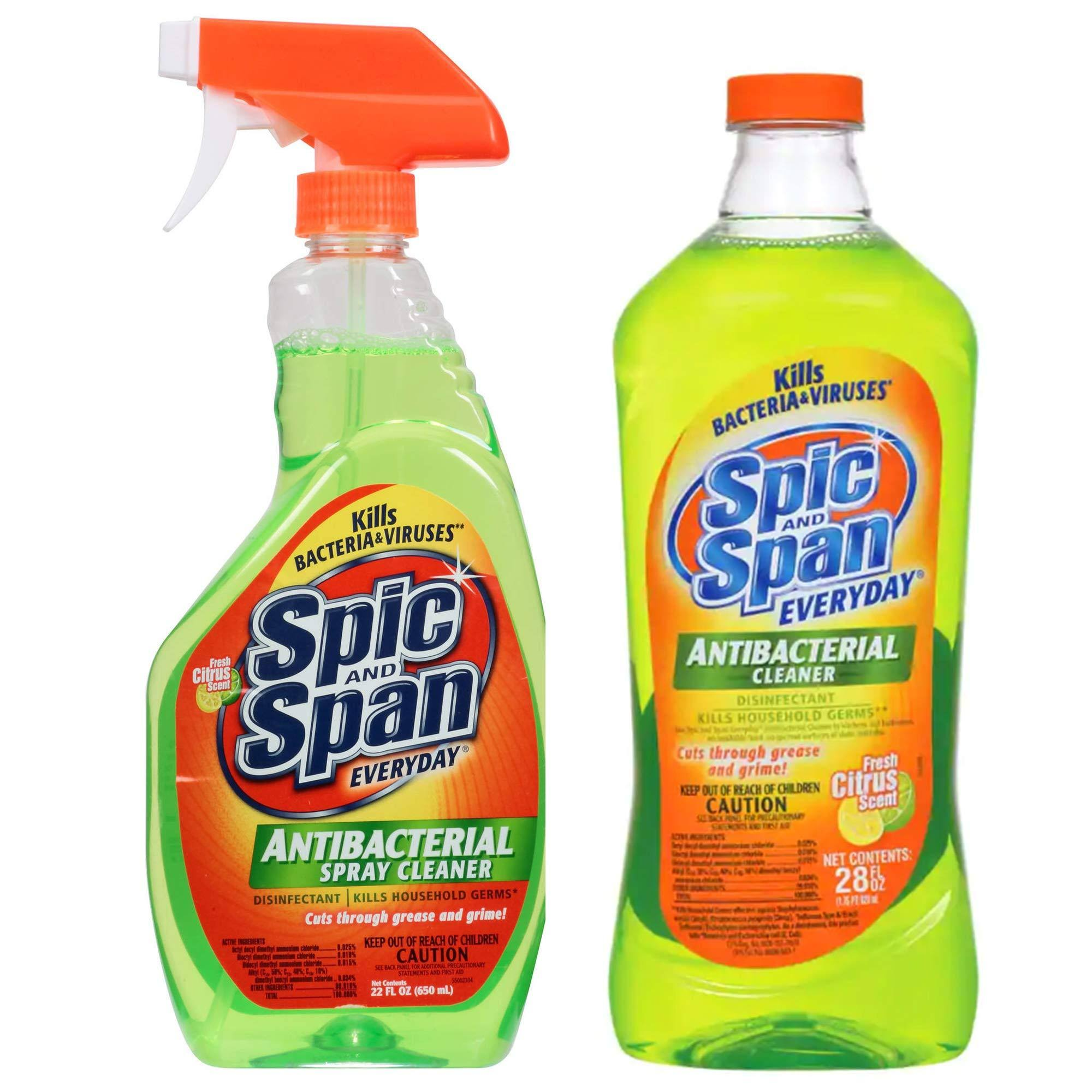Spic & Span Antibacterial Disinfect Household Cleaner - 2x28oz