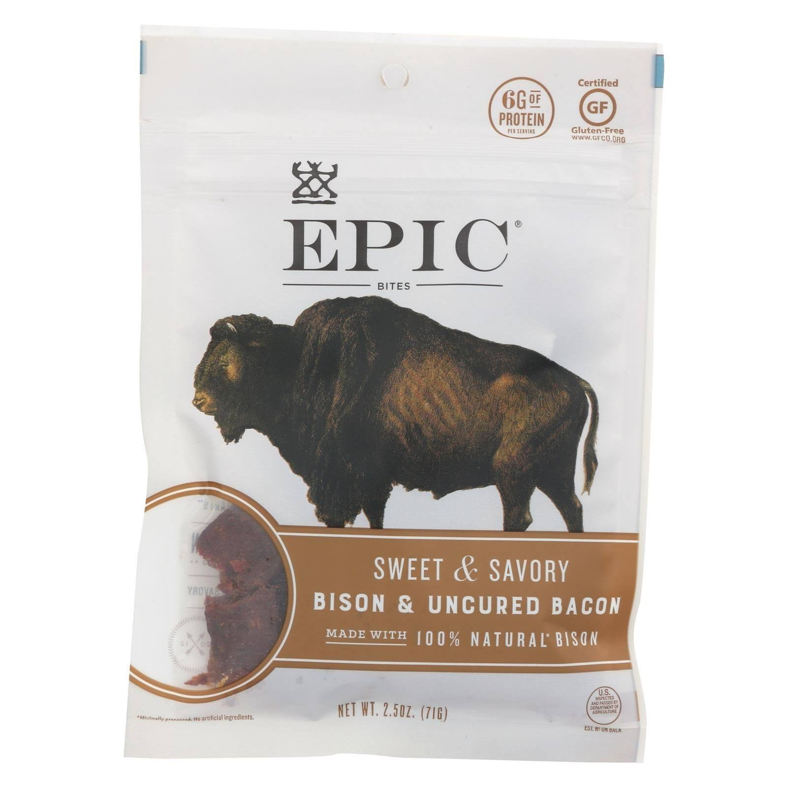 Epic Bison Bacon Chia Bites - 2.5oz
