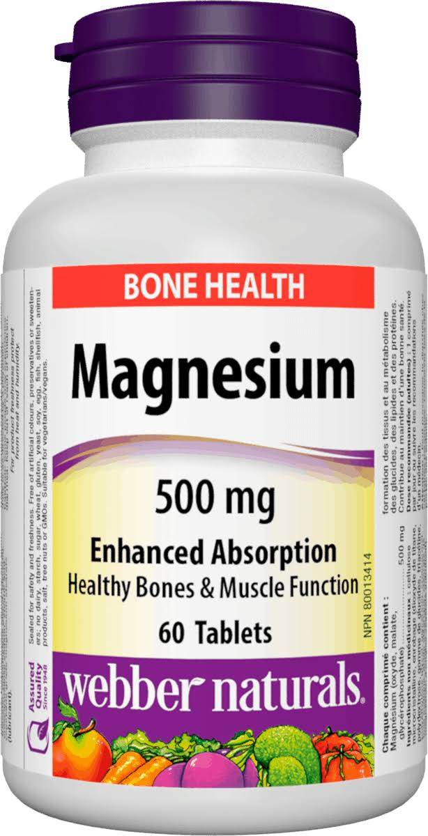 Webber Naturals Magnesium Supplement - 500mg, 60 Tablets