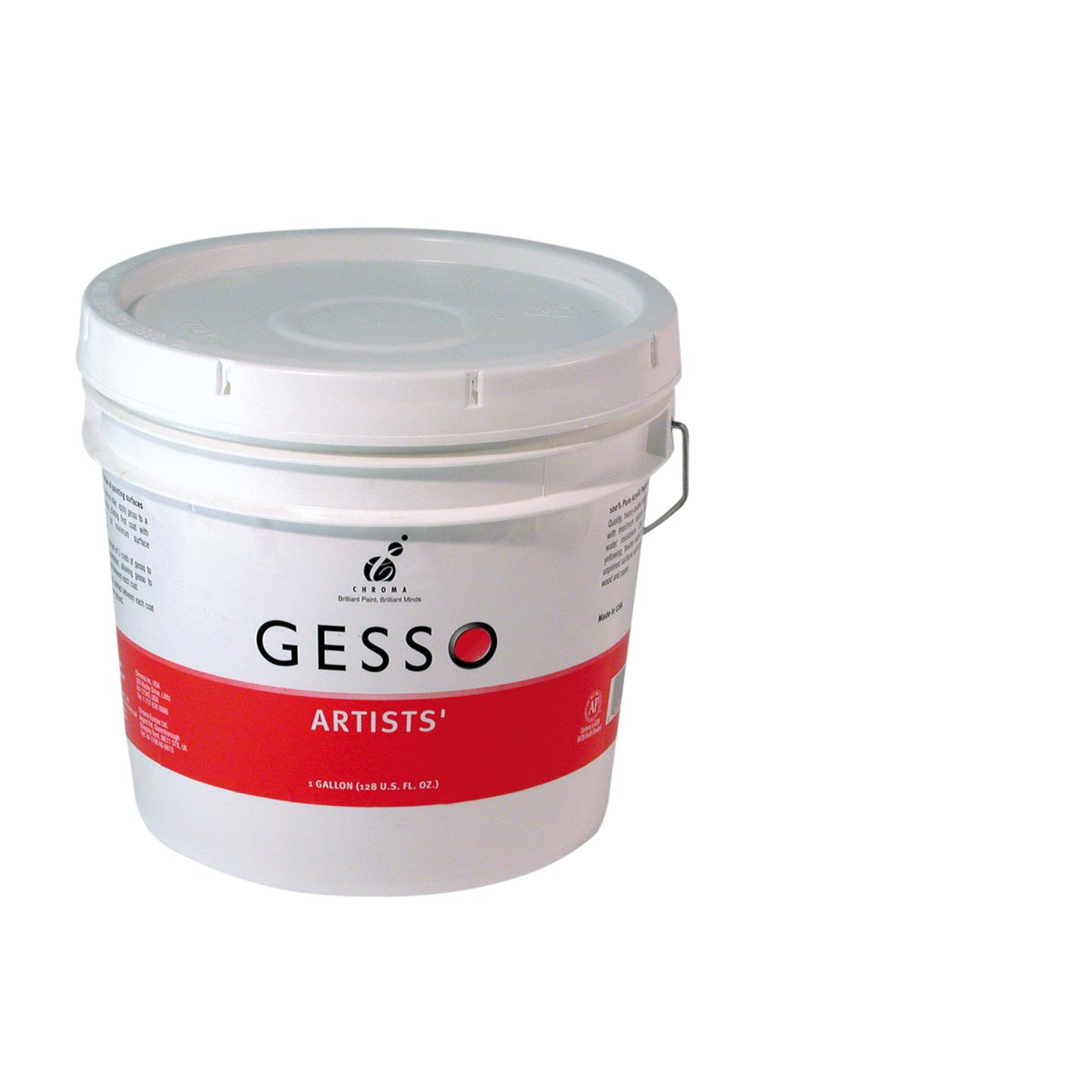 Chroma - Artists' Gesso - Gallon, White