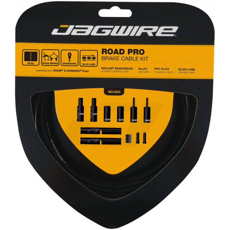 Bikeman Jagwire Road Pro Brake Cable Kit - Black