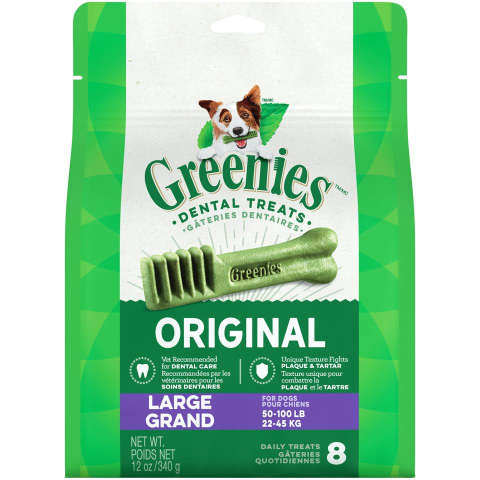 Greenies Dental Dog Treats - 340g, 8 Daily Treats