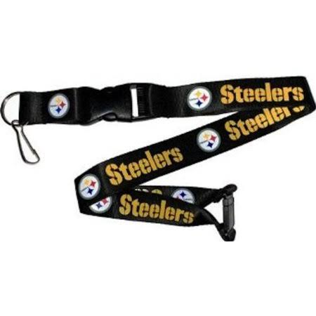 Aminco Nfl Pittsburgh Steelers Logo Break Away Team Lanyard - Black