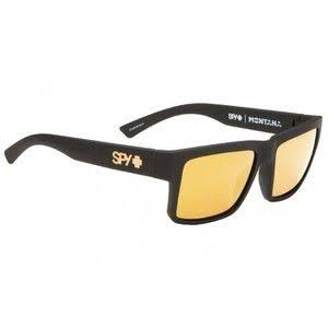 Spy Optic Montana Sunglasses - Soft Matte Black, Happy Bronze with Gold Mirror