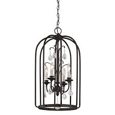 Sloped Ceiling Adapter Pendant Light by Home Decorators Collection 1 Light Aged Bronze Cage Pendant 25415