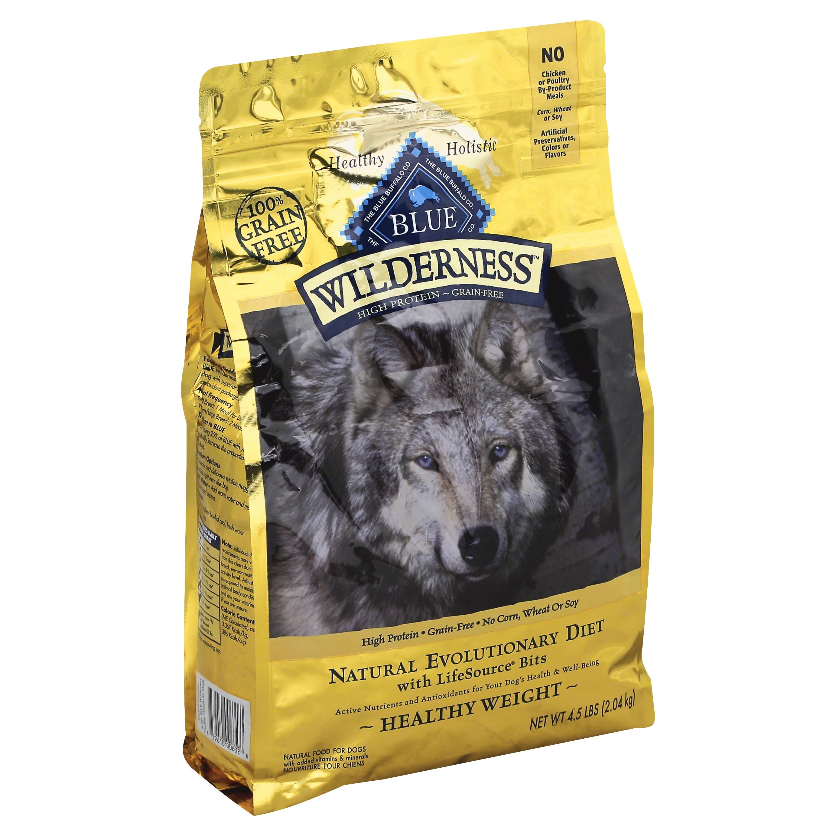 Blue Buffalo Wilderness Healthy Weight Adult Dry Dog Food - Chicken, 4.5lb