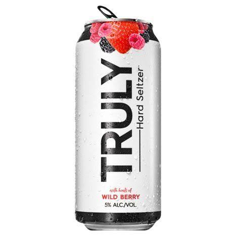 Truly Hard Seltzer Hard Seltzer, with Hints of Wild Berry