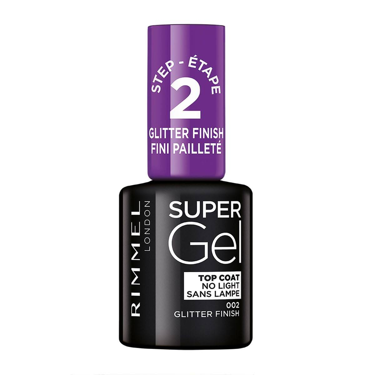 Rimmel Super Gel Top Coat Nail Polish Glitter