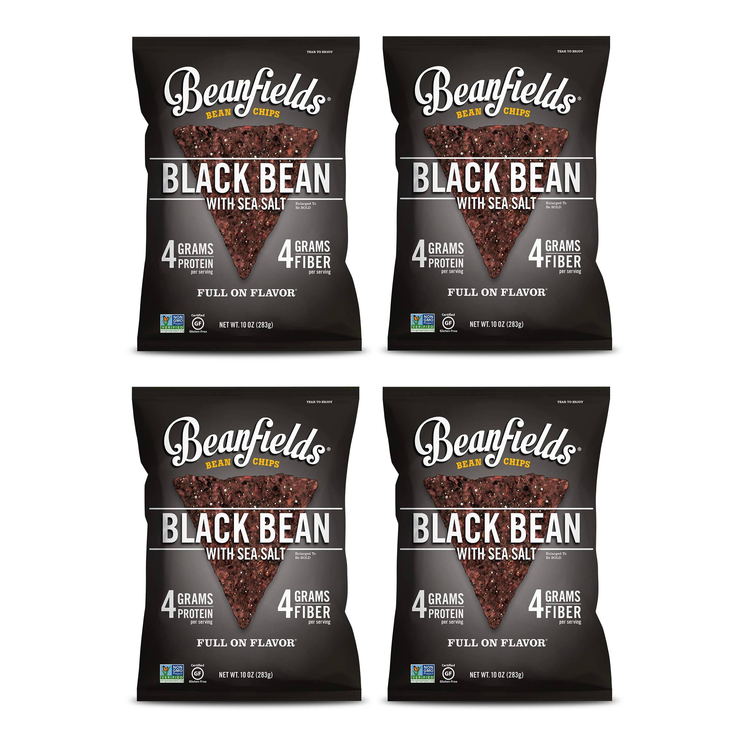 Beanfields Bean Chips, Black Bean With Sea Salt - 5.5 oz