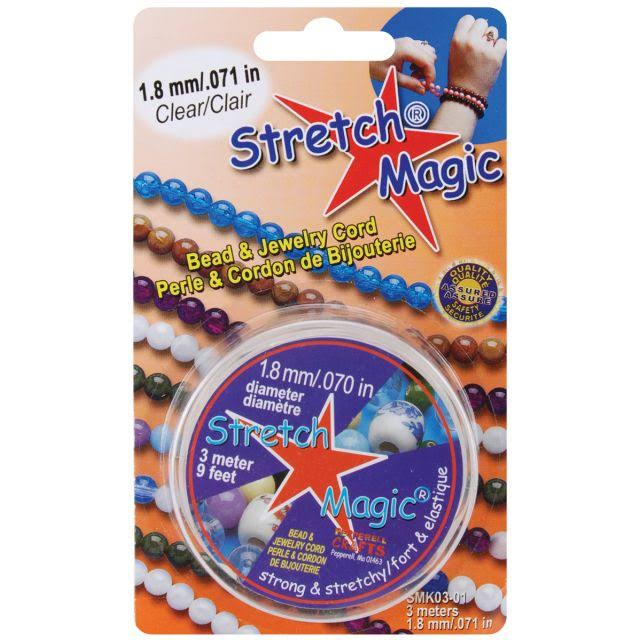 Stretch Magic Beading Cord - Clear, 1.8mm x 9.8'