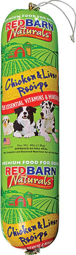 RedBarn Natural Dog Food Roll - Chicken and Liver, 4lb