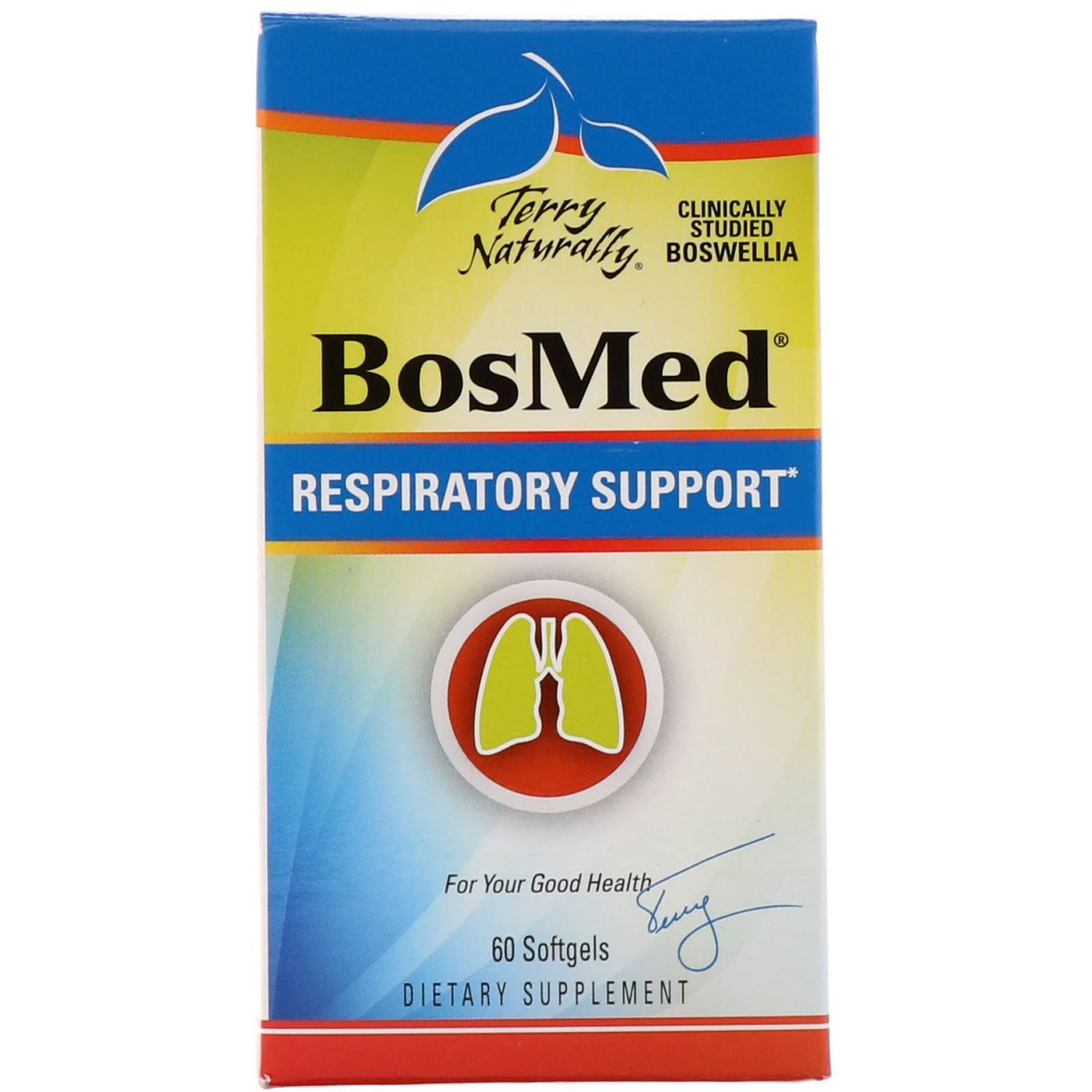 Terry Naturally BosMed Respiratory Support - 375mg, x60