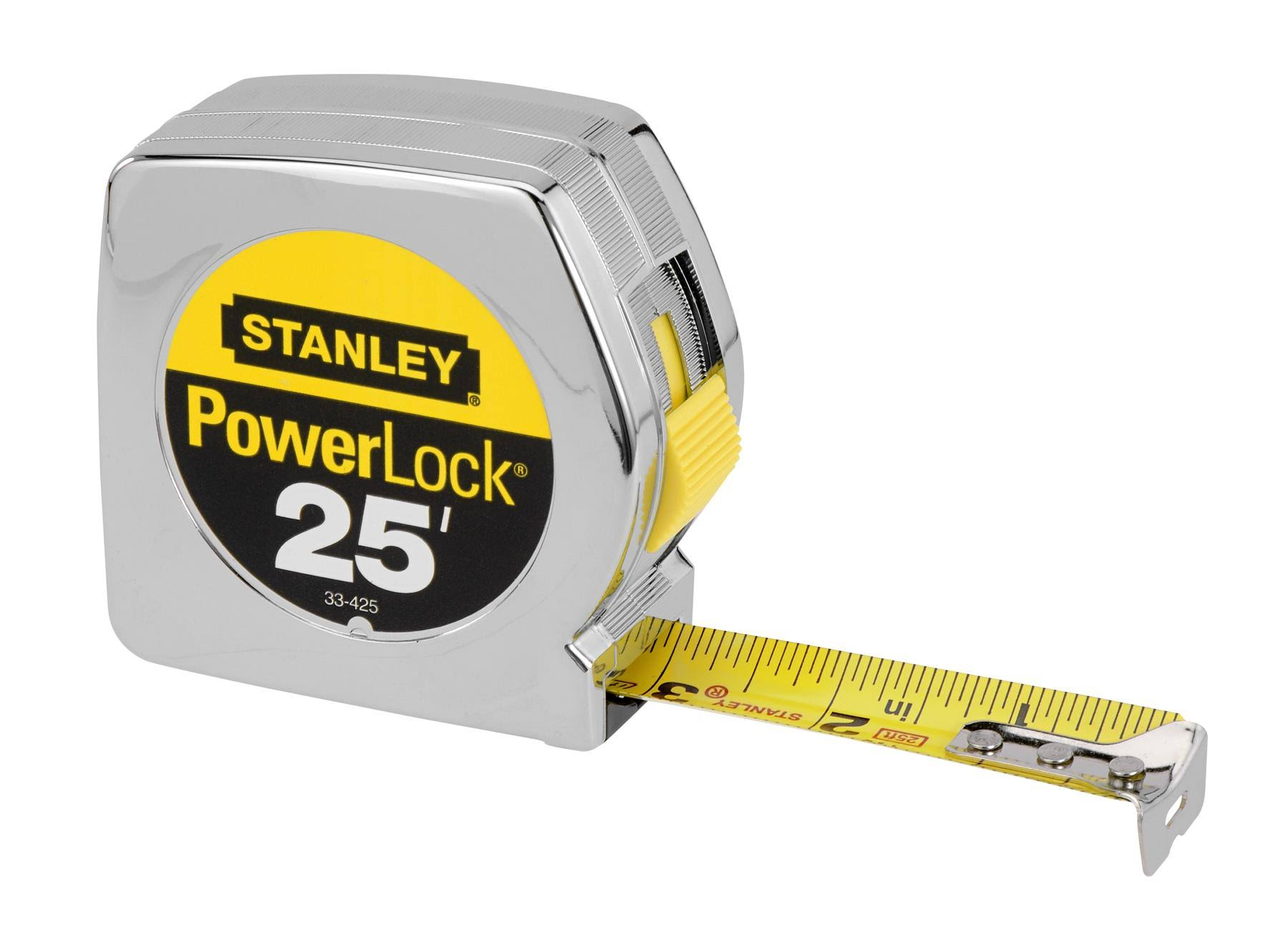 Stanley PowerLock Retractable Blade Tape Measure - 25ft